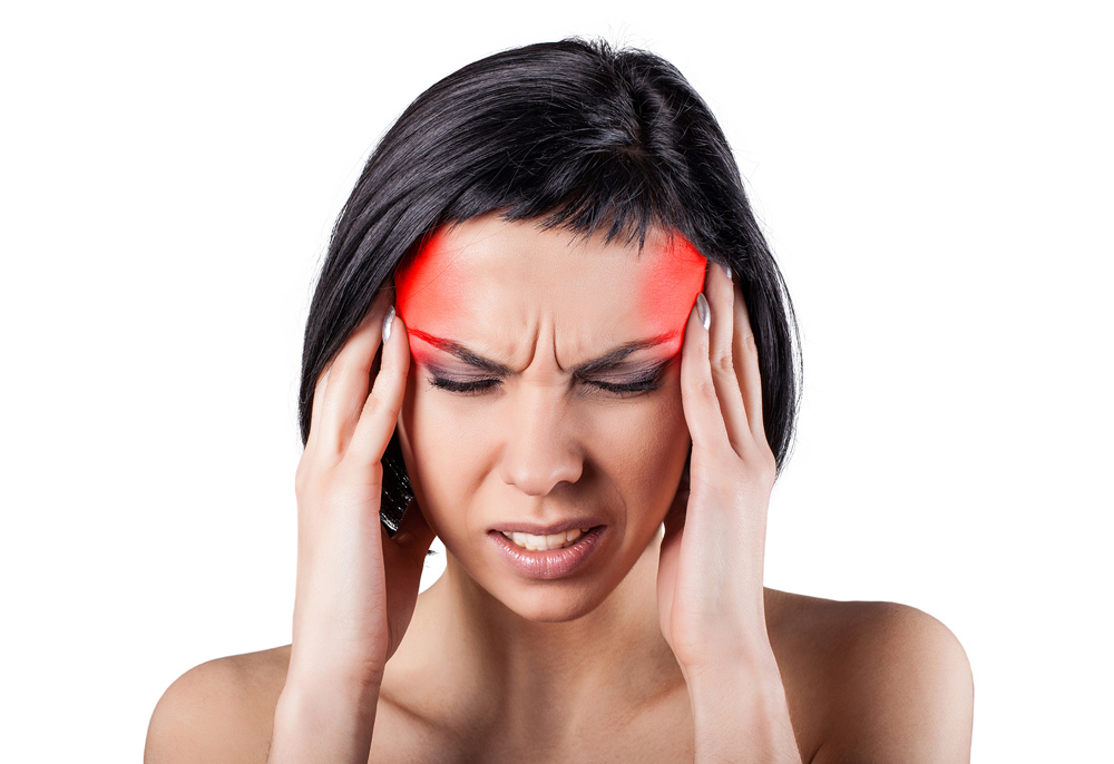 woman suffering from a painful headache